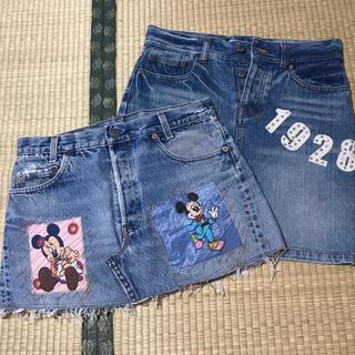 ディズニー(Disney)のディズニー / デニムスカート 2点セット(ミニスカート)