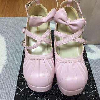 ボディライン(BODYLINE)のロリータ♡ピンクおでこ靴(ハイヒール/パンプス)