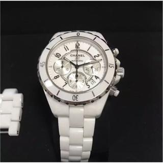 シャネル(CHANEL)のおさむ様専用 シャネルJ12 クロノグラフ h1007  自動巻 腕時計(腕時計(アナログ))