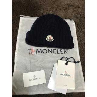 モンクレール(MONCLER)のモンクレール ニット ネイビー(ニット帽/ビーニー)