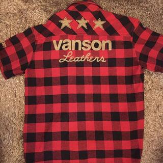 vanson 襟付き半袖シャツ