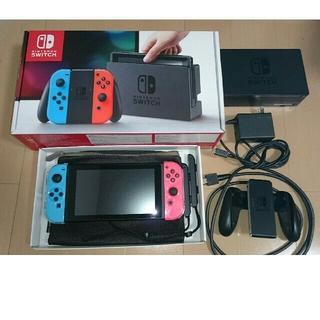ニンテンドースイッチ(Nintendo Switch)のニンテンドースイッチ ネオンブルー / (R) ネオンレッド(その他)