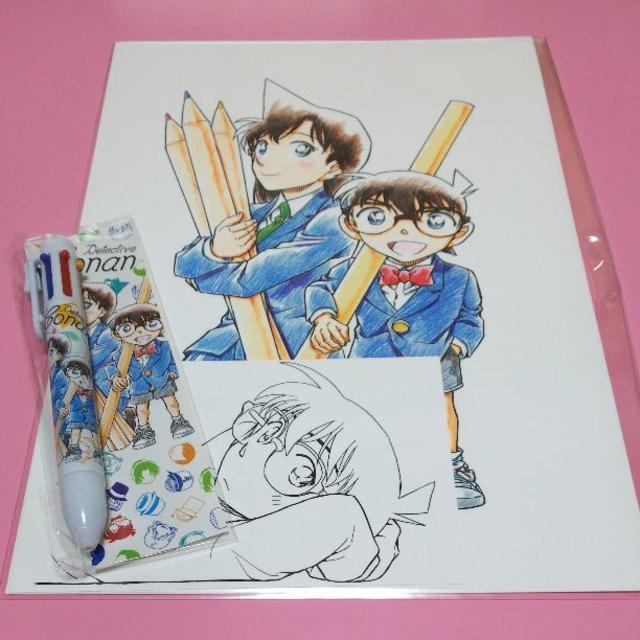 コナン サンデー ぬりえ複製原画ペンセットの通販 By なえぽんs Shop