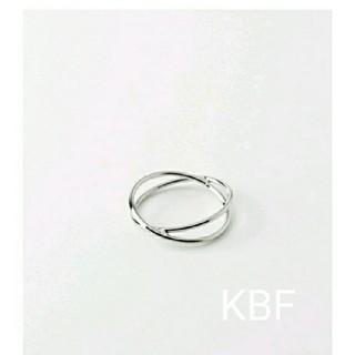 ケービーエフ(KBF)のアーバンリサーチKBF クロス細リング(リング(指輪))