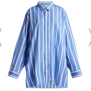 バレンシアガ(Balenciaga)のsサイズ vetements オーバーサイズストライプシャツ 18ss(シャツ)