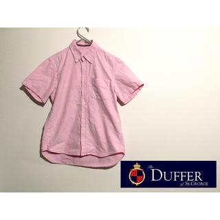 ザダファーオブセントジョージ(The DUFFER of ST.GEORGE)のザ・ダファー・オブ・セントジョージ ピンク メンズ半袖シャツ Size S(シャツ)