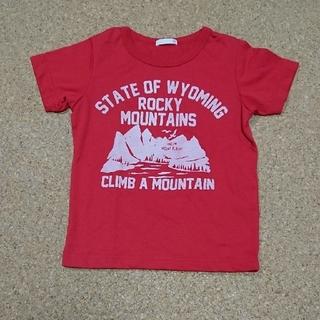ジーユー(GU)のサイズ120 ジーユー gu Tシャツ 赤(Tシャツ/カットソー)