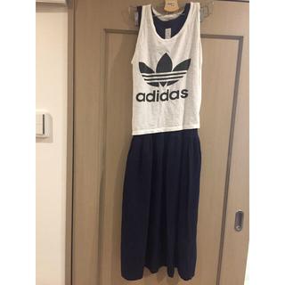 アディダス(adidas)のadidasキャミ&ワンピセット(ロングワンピース/マキシワンピース)