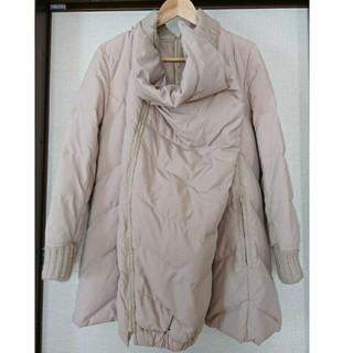 産前産後妊婦 マタニティ 前後チャック 抱っこ授乳用 軽いダウンコート  M L(マタニティアウター)