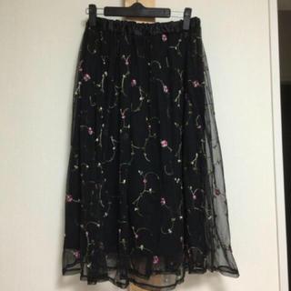 しまむら - 花柄刺繍スカート