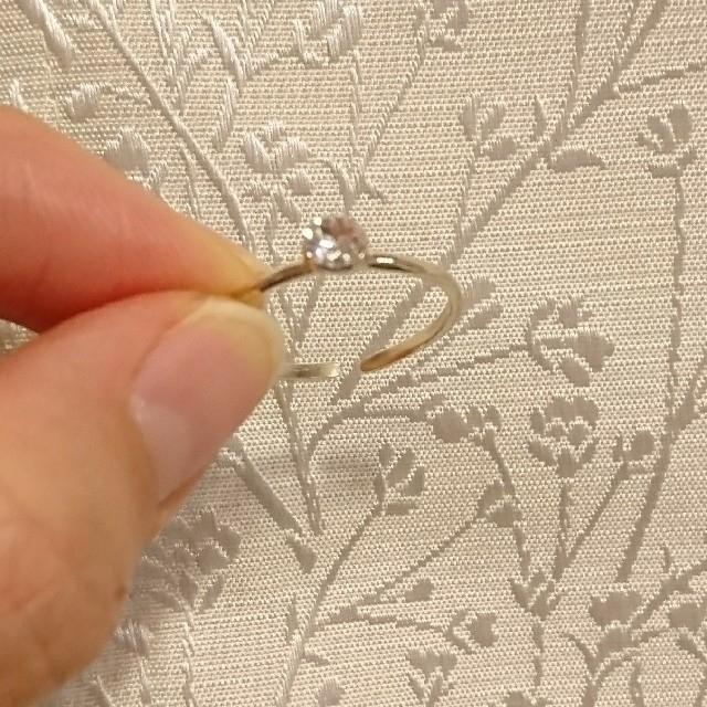 一粒スワロフスキー クリスタル リング ハンドメイドのアクセサリー(リング)の商品写真