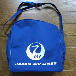 ジャル(ニホンコウクウ)(JAL(日本航空))の鶴丸 JALショルダーバッグ ブルー(ノベルティグッズ)