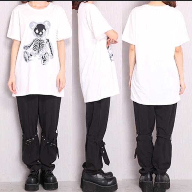FUNKY FRUIT(ファンキーフルーツ)のスケルトンテディプリントTシャツ レディースのトップス(Tシャツ(半袖/袖なし))の商品写真