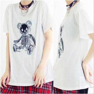 ファンキーフルーツ(FUNKY FRUIT)のスケルトンテディプリントTシャツ(Tシャツ(半袖/袖なし))