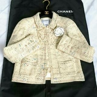 シャネル(CHANEL)のシャネルジャケット★美しいCHANELツイードの可愛いジャケット★ほぼ未使用★(その他)
