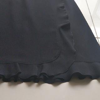 キャシャレル(cacharel)のキャシャレル 黒巻きスカート Mサイズ(ひざ丈スカート)