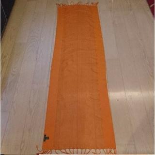 ラルフローレン(Ralph Lauren)のラルフローレン 『ローレン』オレンジ色 シフォンスカーフ ロング(ストール/パシュミナ)