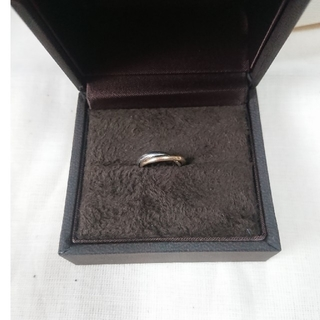 ヨンドシー(4℃)のK18 Pt900 コンビ ピンキーリング(リング(指輪))