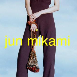 ハイク(HYKE)のjun mikami ウッドビーズ リネン 手編み バッグ(ショルダーバッグ)