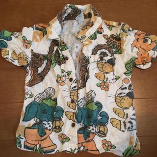 ラフアンドチープ(LAUGH & CHEAP)のラフチー 半袖シャツ アニマル柄 サイズS(Tシャツ/カットソー)