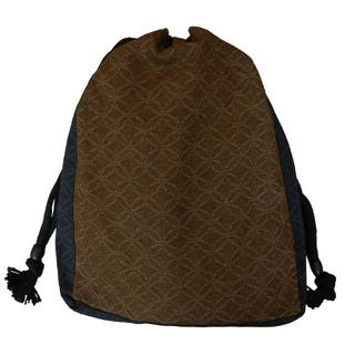新品送料込み 男性用 信玄袋 小物入れ 巾着 きんちゃく ゆかたバッグ 着物(和装小物)