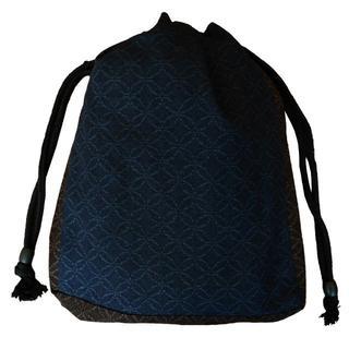 新品送料込み 男性用 信玄袋 小物入れ 巾着 ゆかたバッグ きんちゃく 着物(和装小物)