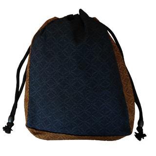 新品送料込み 男性用 信玄袋 小物入れ 巾着 ゆかたバッグ 着物 きんちゃく(和装小物)