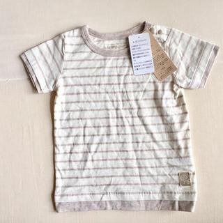 0b5cee3d494b9 シマムラ(しまむら)のベビー オーガニックコットン Tシャツ ボーダー 70〜80(T