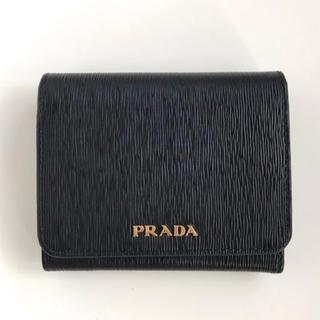 プラダ(PRADA)の[PRADA]三つ折り財布VITELLO MOVE 黒x赤(財布)