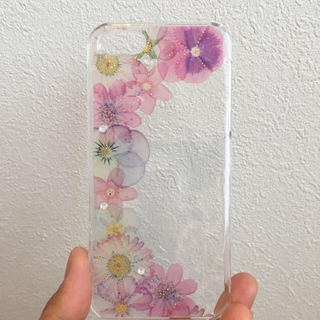 アイフォーン(iPhone)の♡iPhone お花 スマホケース♡(スマホケース)