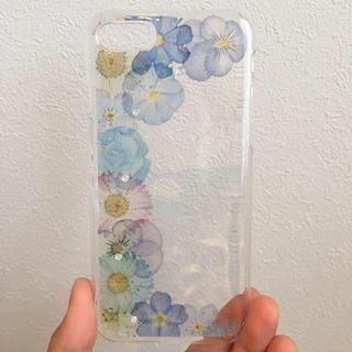 アイフォーン(iPhone)の♡iPhone7&8 お花 iPhoneケース 片側バージョン♡(スマホケース)