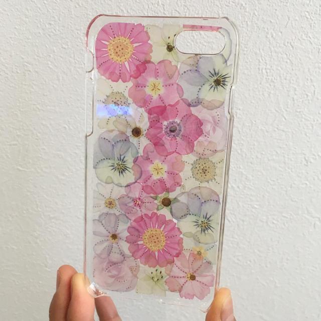 iPhone(アイフォーン)のiPhone7&8 お花 スマホケース 全面バージョン♡ ハンドメイドのスマホケース/アクセサリー(スマホケース)の商品写真