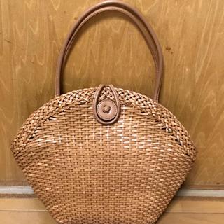 ハマノヒカクコウゲイ(濱野皮革工藝/HAMANO)のハマノ  革カゴバッグ (ハンドバッグ)