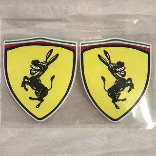 フェラーリ(Ferrari)の【新品】車用デカール ステッカー 4対 フェラーリオマージュ パロディ ロバ(ステッカー)