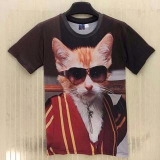 猫Tシャツ 猫シャツ ワイルド猫ちゃん♪ XLサイズ 新品未使用品(猫)