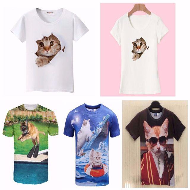 猫Tシャツ 猫シャツ XLサイズ 可愛い自画撮り猫ちゃん♪ 新品未使用品 その他のペット用品(猫)の商品写真