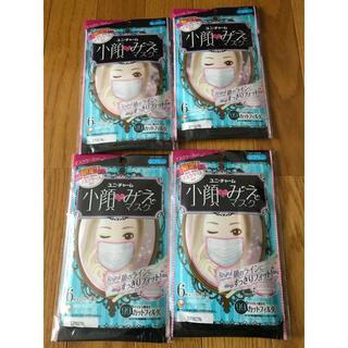 ユニチャーム(Unicharm)の新品 小顔にみえマスク 6枚 マスクケース付き 限定 4袋 ふつうサイズ(その他)