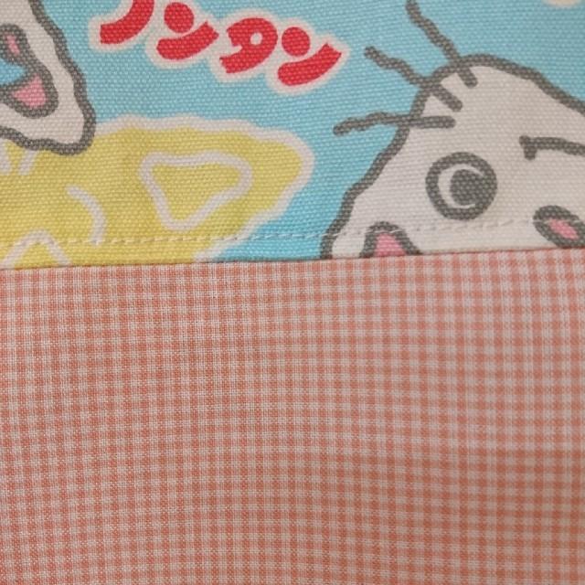 エプロンハンドメイドノンタン×ピンクギンガム ハンドメイドの生活雑貨(キッチン小物)の商品写真