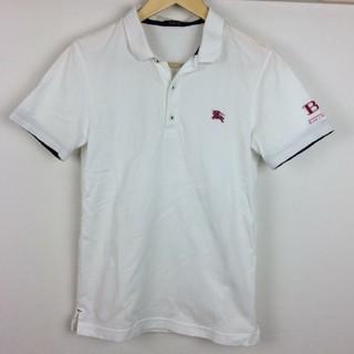 バーバリーブラックレーベル(BURBERRY BLACK LABEL)の美品 BURBERRY BLACK LABEL 半袖ポロシャツ ホワイト 2(ポロシャツ)