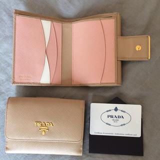 プラダ(PRADA)のPRADA マルチカラー 新品 サフィアーノ 二つ折り財布 CAMMEO(財布)