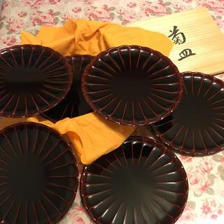 漆器 菊皿 6枚入(漆芸)