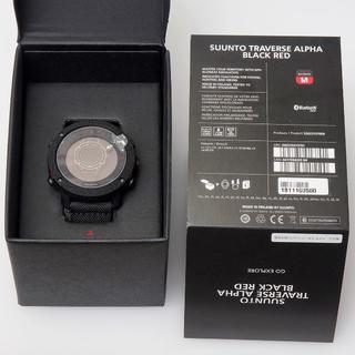 スント(SUUNTO)の新品未使用 保証残あり SUUNTO TRAVERSE ALPHA 黒/赤(腕時計(デジタル))