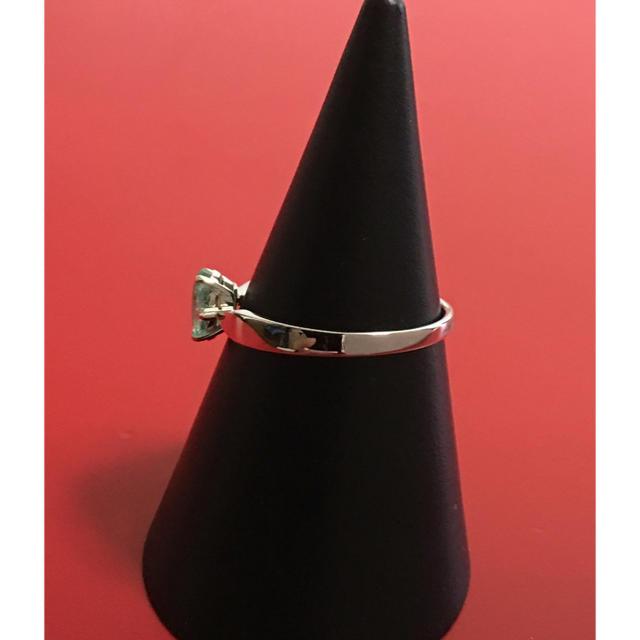 今だけ値下げ中‼️新品 18KWGブラジル産パライバダイヤモンドリング レディースのアクセサリー(リング(指輪))の商品写真