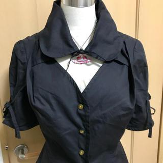 ヴィヴィアンウエストウッド(Vivienne Westwood)のヴィヴィアン リボンシャツ ブラック スカートセット(シャツ/ブラウス(半袖/袖なし))