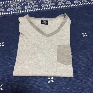コムサコミューン(COMME CA COMMUNE)のコムサコミューン   Tシャツ グレー 5部丈(Tシャツ/カットソー(半袖/袖なし))
