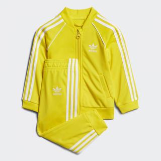 アディダス(adidas)の新品 アディダス ジャージ セットアップ 上下 キッズ 黄色 イエロー 80 (その他)