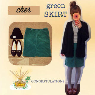 シェル(Cher)のcher/コーデュロイスカート(ひざ丈スカート)