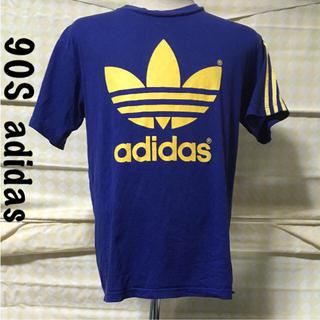 アディダス(adidas)の90S ◆ アディダス Tシャツ Lサイズ ヴィンテージ  デカロゴ(Tシャツ/カットソー(半袖/袖なし))