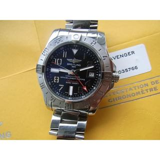 ブライトリング(BREITLING)の19年3月までメーカー保証あり ブライトリング アベンジャーⅡ GMT 付属完備(腕時計(アナログ))