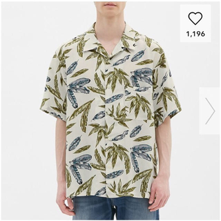 GU - Mサイズ GU オープンカラービッグシャツ